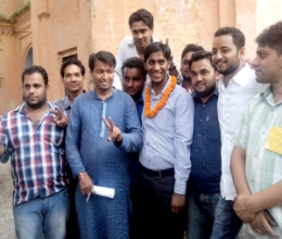 DAV - Siddhartha Rana, president of ABVP wins