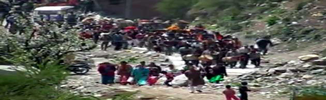 Due to heavy rainfall, Ramdev and followers asked to get out of Gangotri